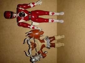 Figuras Power Rangers. Marca Bandai. Año 93 y 94.