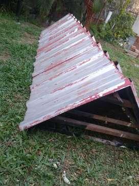 Chapa techo hierro