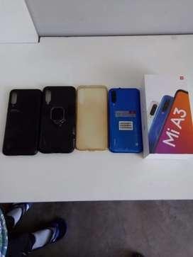 Vendo Xiaomi mi A3 con manuales 3 cases tapón y caja perfecto estado como nuevo