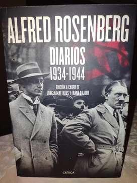 Alfred Rosenberg Diarios 1934-1944 Editorial Crítica