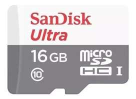 Tarjeta de memoria SanDisk SDSQUNS-016G-GN3MN Ultra 16GB