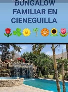 ALQUILER BUNGALOW FAMILIAR EN CIENEGUILLA