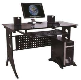 Computer Desk Black with Tempered Glass Top Xtech CT-1211