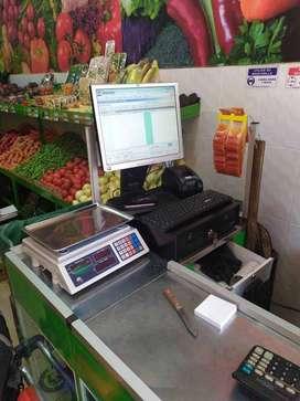 Sistema pos punto de venta completo con equipos bascula programa