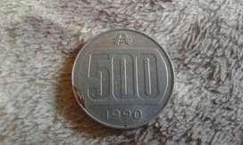 Moneda De 500 Australes Año 1990