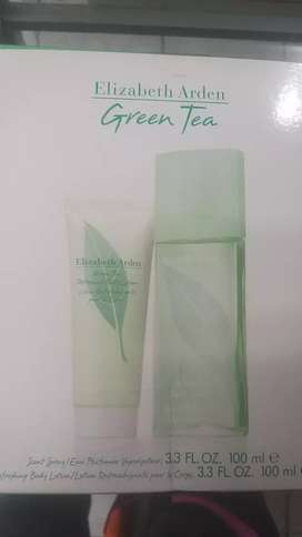Set de green tea de 100ml crema corporal y perfume