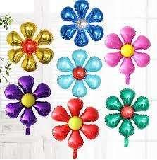 Globos Metalizados Mylay Anagram Flores 45cm