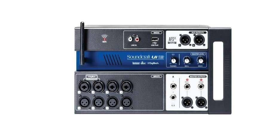 MIXER DIGITAL - MARCA SOUNDCRAFT BY HARMAN - MODELO: UI12 - REMOTE CONTROLLED. 0