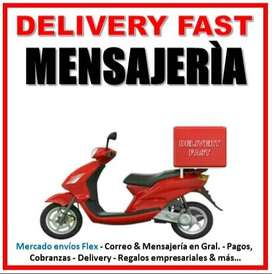 Delivery Fast - Mensajería - Envíos Flex, Tramites en Gral.