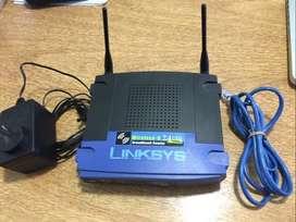 Router Wifi Linksys Wireless G 2.4ghz 54 Mbps - Usado