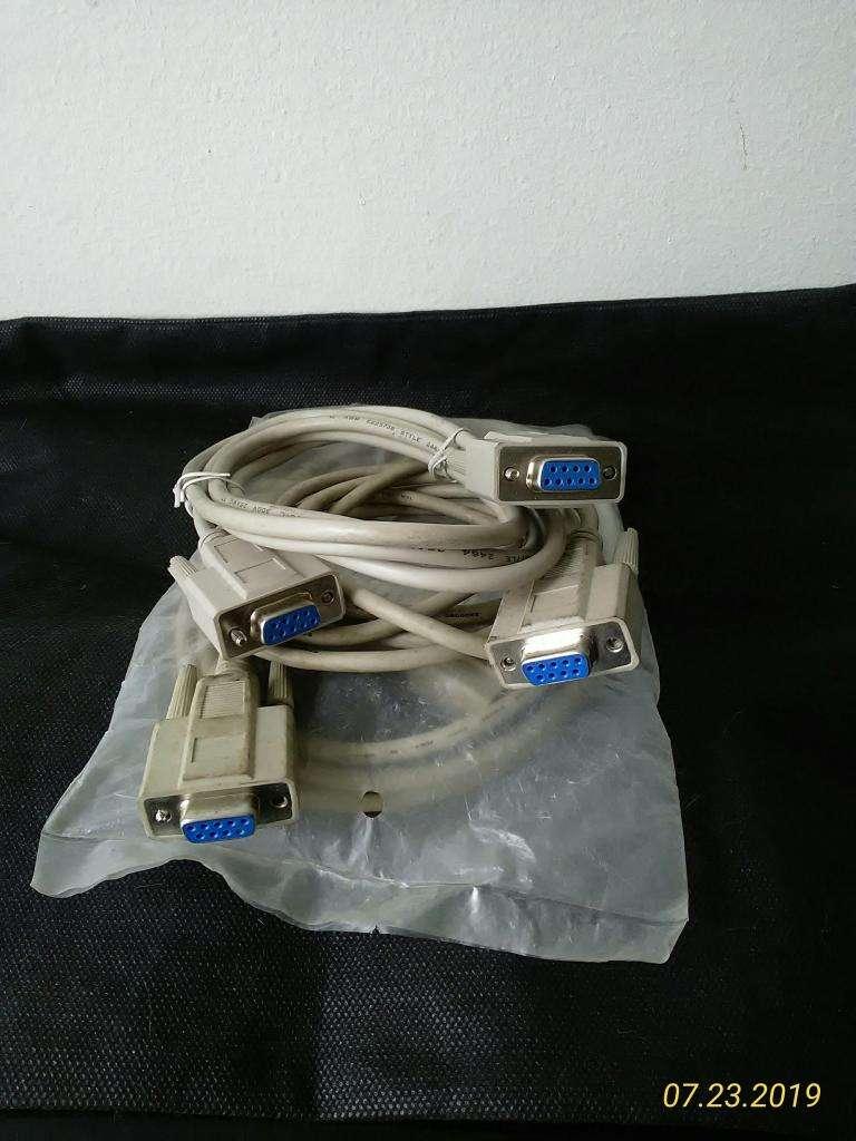 Cable de Serie (Beige, 5 m, DB9, DB9, Female Connector/Female Connector)