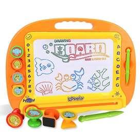 Tablero magico magnetico + accesorios pizarra de dibujo borrable de juguete