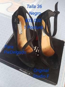 Zapatos StudioF Talla 36 Pie Delgado