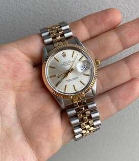 Reloj rolex date acero oro