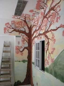 Diseño y pinto murales decorativos