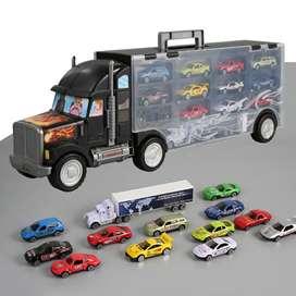 Camioneta con 12 carros incluidos