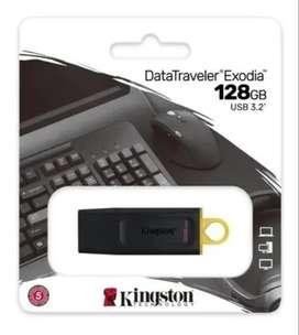 Memoria Usb 128 Gb 3.2 Kingston Exodia 3.0 3.1 3.2