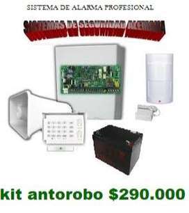 alarma antirobo desde $290.000 kit