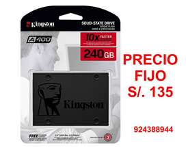 ssd disco duro solido kingston A400, 240gb, sata