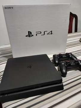 PS4 SLIM 500gb + 2 JOYSTICK ORIGINALES