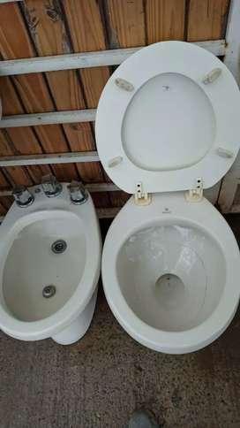 Juego de baño inodoro bidet y bacha