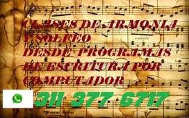 CLASES DE ARMONÍA Y SOLFEO A DOMICILIO O POR SKYPE