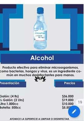 Alcohol y productos de aseo