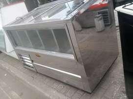 Vendo congelador panoramico con garantia en acero