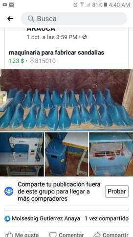 Se Vende Maquinaria para Hacer Sandalia