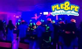chiquifiestas/CHIQUITECAS/hora loca/espuma/GLOBOFLEXIA/fiestas neon/LUZ LED/SONIDO/DJ/