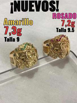 Anillos de oro 18k nuevos 7,2 y 7,3 (145mil el gramo)