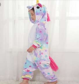 Pijamas unicornio estrellas para niños y adultos