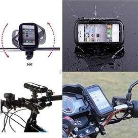 Soporte Funda Impermeable Touch Celular Gps Anti Caidas Moto Bici