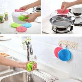 Esponja Para Limpiar Cocina De Silicona Antibacterial