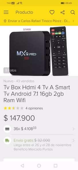 Vendo tv box 2 de ram y 16 gb y teclado inalambrico