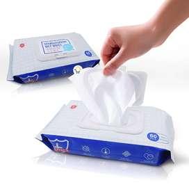 Toallas Húmedas X60 Pañitos Desinfectantes Sin Alcohol HD871