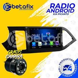 RADIO ANDROID PARA KIA PICANTO R 2013 UP GPS BT USB WIFI BETAFIX