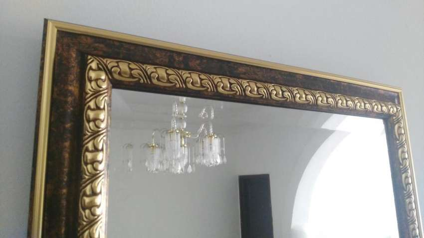 Espejo cristal con marco Importado Fino y Elegante para sala,comedor,Habitación, Enmarcaciones, ,Molduras,Nuevos 0