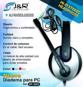 DIADEMA PC HI-FI STEREO HEADPHONE COMPATIBLE  PC/PS4/XBOX ONE/ N SWITCH SP-3002, DOMICILIO GRATIS, PAGO CONTRAENTREGA