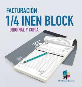 Facturas 1/4 en Block
