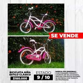 Bicicleta Niña Estilo Clásico