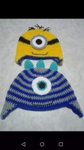 Vendo divinos gorros a crochet nuevos