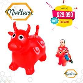 muñeco inflable saltarin vaca burro varios colores para niña o niño,