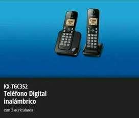 Teléfono Panasonic Inalámbrico Doble KX- TGC352 100% Original