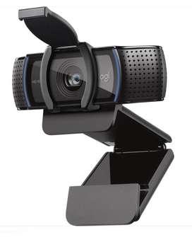 Cámara Web Logitech Webcam C920s Pro 1080p  Con Tapa