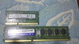 Memorias RAM 4GB para pc escritorio y para PC