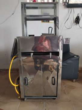 Mini carro asadora y fritadora