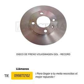 DISCO DE FRENO VOLKSWAGEN GOL, GOLF, JETTA