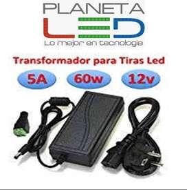 Transformador Fuente De Poder 12v A 5a Luces Led Camaras Etc