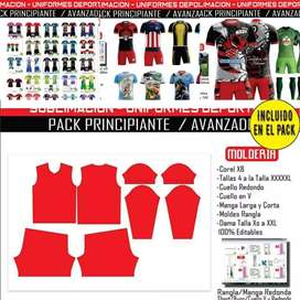 Diseños de uniformes de futbol y moldes